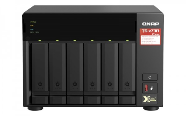QNAP TS-673A-32G QNAP RAM 6-Bay 48TB Bundle mit 4x 12TB Red Plus WD120EFBX