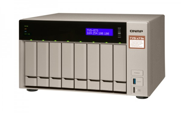 Qnap TVS-873e-16G QNAP RAM 8-Bay 30TB Bundle mit 3x 10TB Gold WD102KRYZ