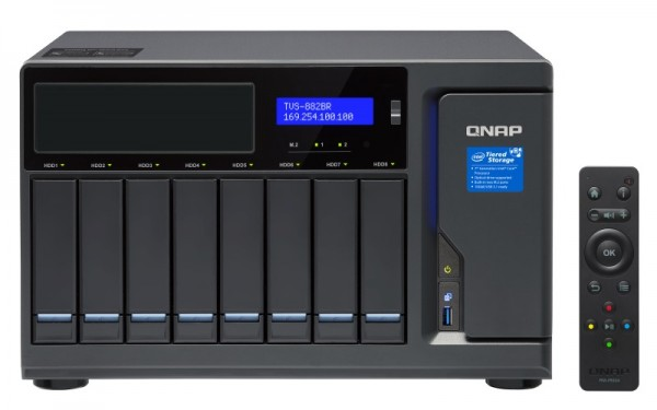 Qnap TVS-882BR-ODD-i7-32G 8-Bay 10TB Bundle mit 1x 10TB IronWolf ST10000VN0004