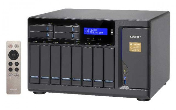 Qnap TVS-1282T-i7-32G 3.4GHz Thunderbolt 12-Bay NAS 36TB Bundle mit 6x 6TB HGST HDN726060ALE614