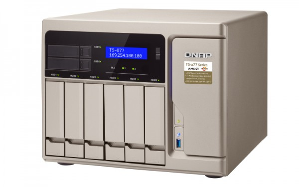Qnap TS-877-1600-8G 6-Bay 60TB Bundle mit 6x 10TB IronWolf ST10000VN0004