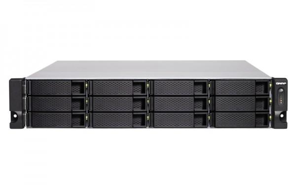 Qnap TS-1283XU-RP-E2124-8G 12-Bay 24TB Bundle mit 12x 2TB Gold WD2005FBYZ