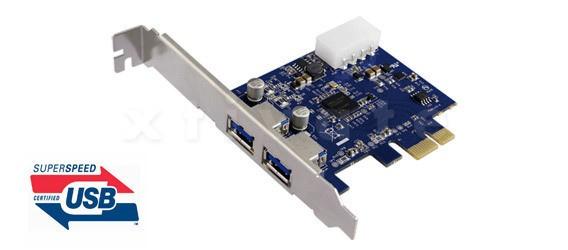 USB 3.0 PCI Express Karte (PCIe), 2x USB 3.0