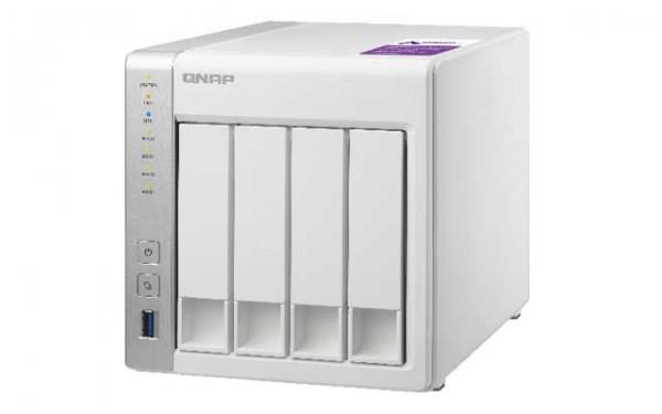 Qnap TS-431P 4-Bay 40TB Bundle mit 4x 10TB Red WD101EFAX