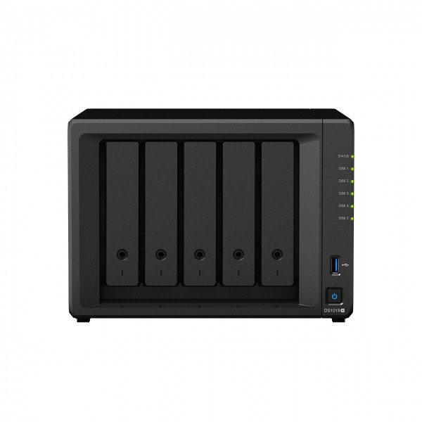 Synology DS1019+ 5-Bay 12TB Bundle mit 1x 12TB IronWolf Pro ST12000NE0007
