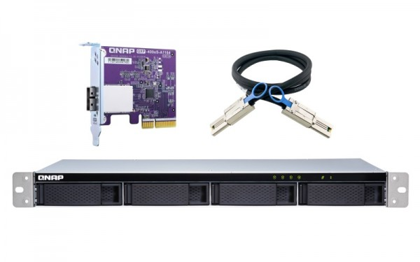QNAP TL-R400S 4-Bay 24TB Bundle mit 2x 12TB Exos