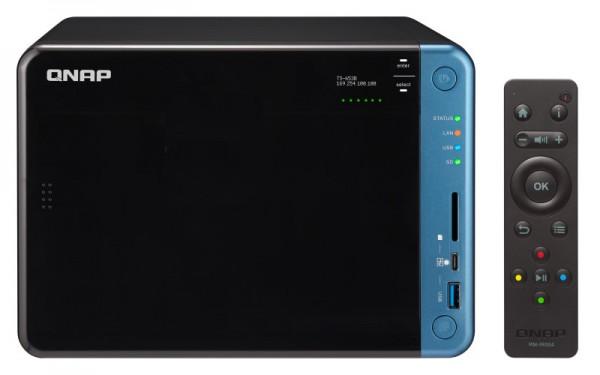 Qnap TS-653B-4G 6-Bay 50TB Bundle mit 5x 10TB Red WD101EFAX
