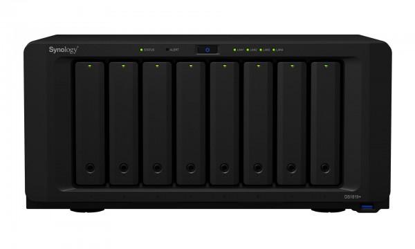 Synology DS1819+(8G) 8-Bay 80TB Bundle mit 8x 10TB Red WD100EFAX