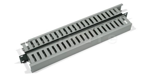 "Triton 19"" Kabelkanal 1HE doppelseitige Kunststoffleiste (RAC-VP-X03-A1)"