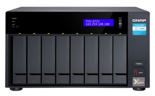QNAP TVS-872X-i3-8G 8-Bay 10TB Bundle mit 1x 10TB Red Plus WD101EFBX