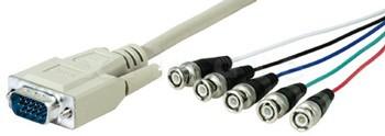 Hochwertiges Anschlusskabel VGA / SVGA auf 5x BNC - 3,0m