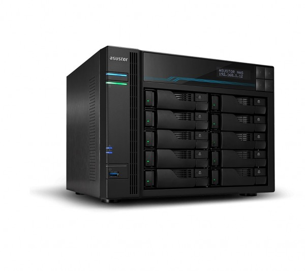 Asustor AS6510T 10-Bay 4TB Bundle mit 2x 2TB Gold WD2005FBYZ