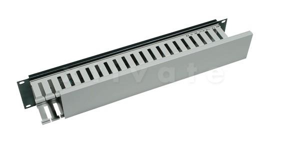"Triton 19"" Kabelkanal 2HE einseitige Kunststoffleiste (RAC-VP-X04-A1)"