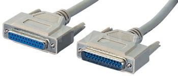 IEEE1284 Verlängerungskabel 25-Pol Sub-D Stecker Kupplung, 1:1 - 3,0m
