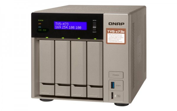 Qnap TVS-473e-16G QNAP RAM 4-Bay 12TB Bundle mit 3x 4TB IronWolf ST4000VN008