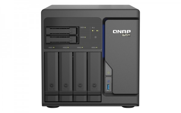 QNAP TS-h686-D1602-8G 6-Bay 48TB Bundle mit 4x 12TB Red Plus WD120EFBX
