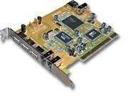 USB 2.0 + FireWire (IEEE1394) PCI Schnittstellenkarte, 4+1 x USB, 2+1 x FireWire