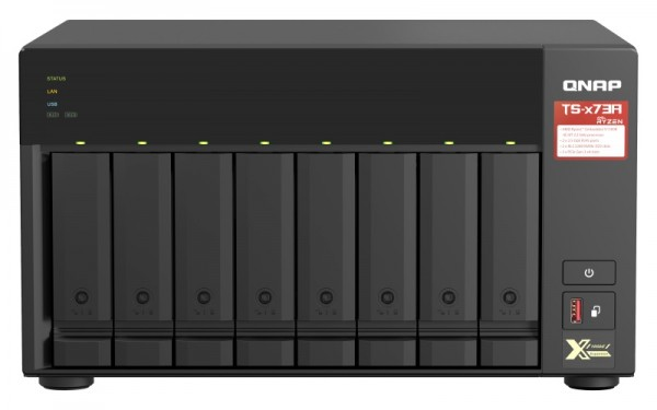 QNAP TS-873A-64G QNAP RAM 8-Bay 24TB Bundle mit 2x 12TB Red Plus WD120EFBX