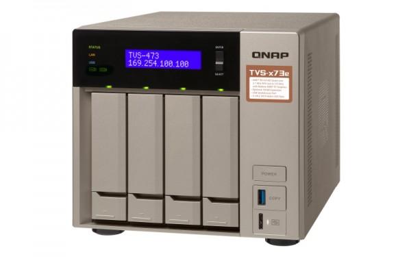 Qnap TVS-473e-16G QNAP RAM 4-Bay 16TB Bundle mit 2x 8TB Red Plus WD80EFBX