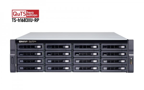 QNAP TS-h1683XU-RP-E2236-128G 16-Bay 32TB Bundle mit 16x 2TB Red Pro WD2002FFSX