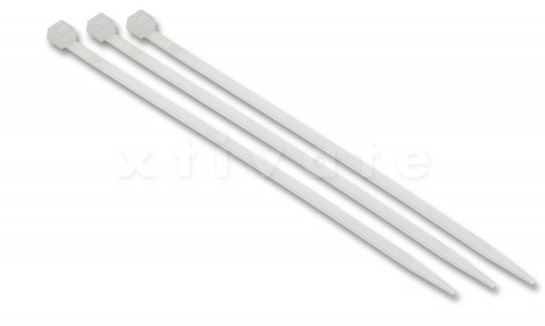 Kabelbinder 290x3,6mm, 100er-Pack, transparent