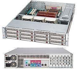 [Demoware / nur 1x verfügbar] SuperMicro - SC826E1-R800LPB, 2HE, 12 bay, 800W redundant