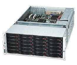 "Supermicro 847E16-R1400LPB schwarz, 4HE, 1400W redundant, für 36x 3,5"" Festplatten"