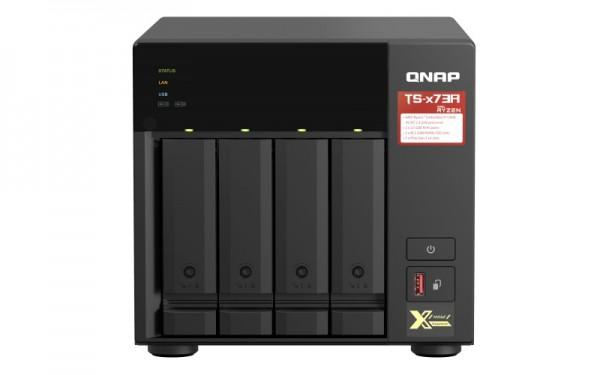QNAP TS-473A-64G QNAP RAM 4-Bay 28TB Bundle mit 2x 14TB Red Plus WD14EFGX
