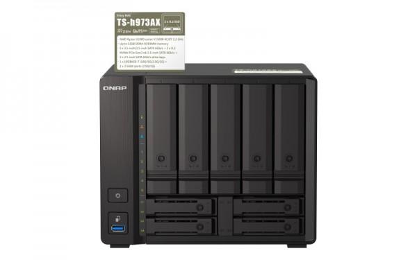 QNAP TS-h973AX-32G Qnap RAM 9-Bay 4TB Bundle mit 2x 2TB Gold WD2005FBYZ