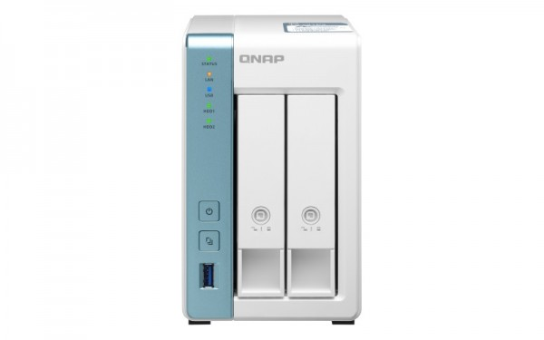 QNAP TS-231P3-2G 2-Bay 28TB Bundle mit 2x 14TB Red Plus WD14EFGX