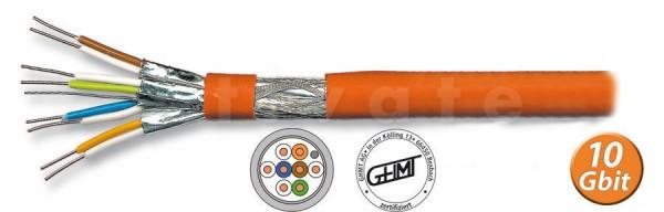 [Restposten | nur 2 Stück] Verlegekabel, S-FTP / S-STP, Cat7, 5m, bis 1000MHz, PIMF, Rolle